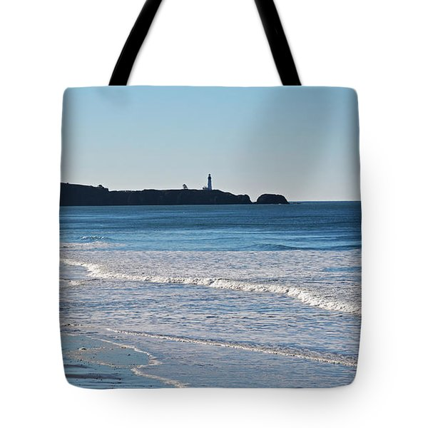 Yaquina Lighthouse And The Pacific Tote Bag