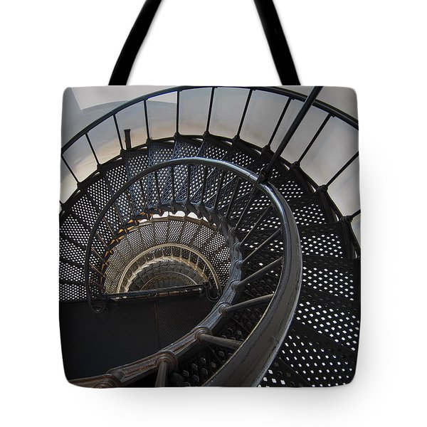Yaquina Lighthouse Stairway Nautilus - Oregon State Coast Tote Bag by Daniel Hagerman