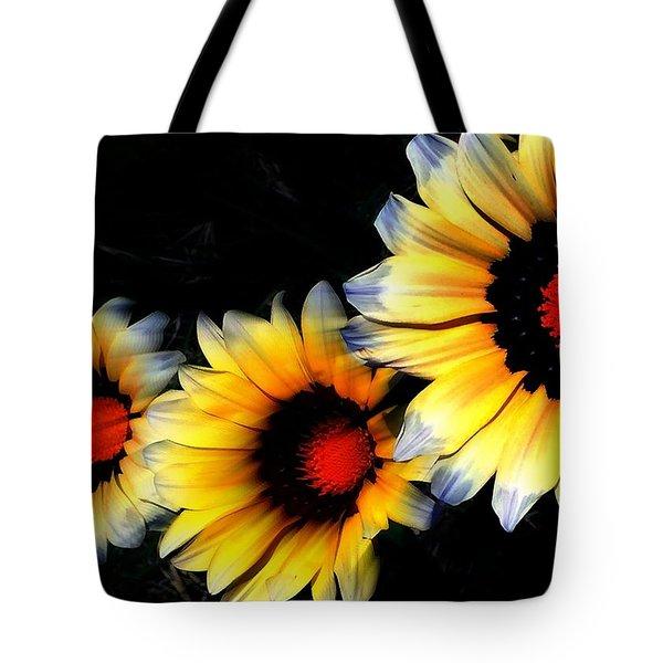 Yard Flowers Tote Bag