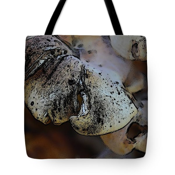 Yard Mushrooms Tote Bag