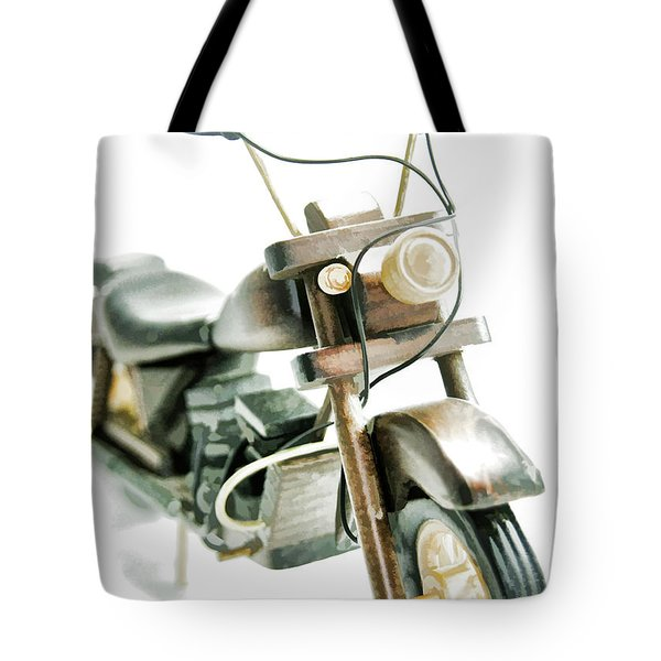 Yard Sale Wooden Toy Motorcycle Tote Bag