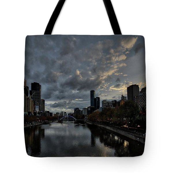 Yarra River Sunset, Melbourne Tote Bag