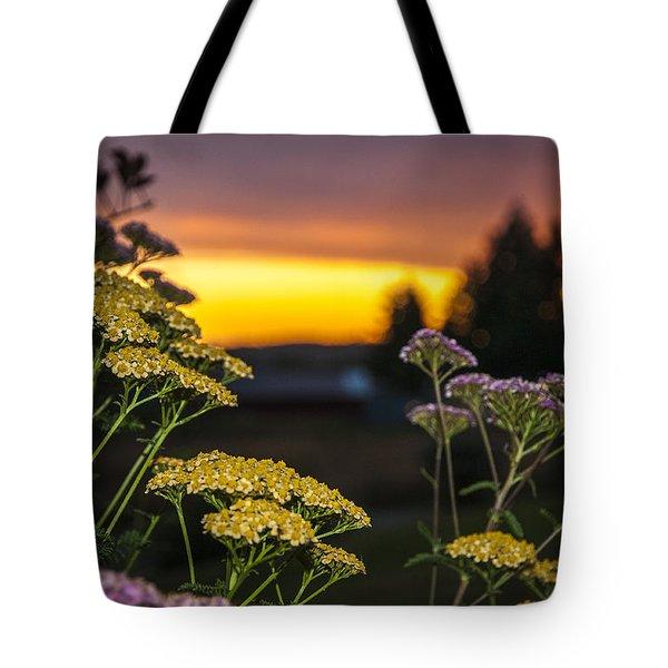 Yarrow At Sunset Tote Bag