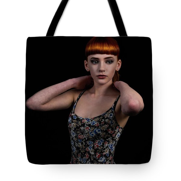 Tote Bag featuring the photograph Yasmin Arms Raised by Ian Thompson