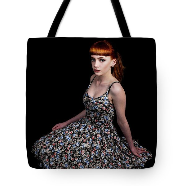 Tote Bag featuring the photograph Yasmin Skirt Left by Ian Thompson