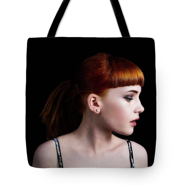 Tote Bag featuring the photograph Yasmin Studio Right by Ian Thompson