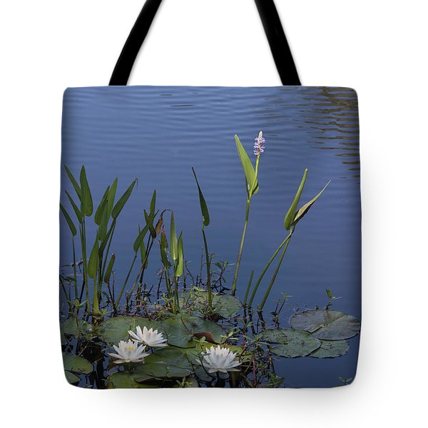 Yawkey Wildlife Reguge Water Lilies With Rare Plant Tote Bag by Suzanne Gaff