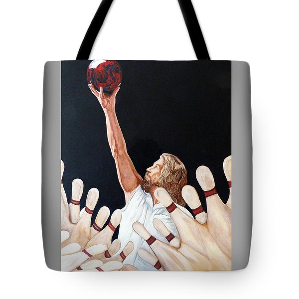 Tote Bag featuring the painting Yeah Yeah Oh Yeah by Tom Roderick