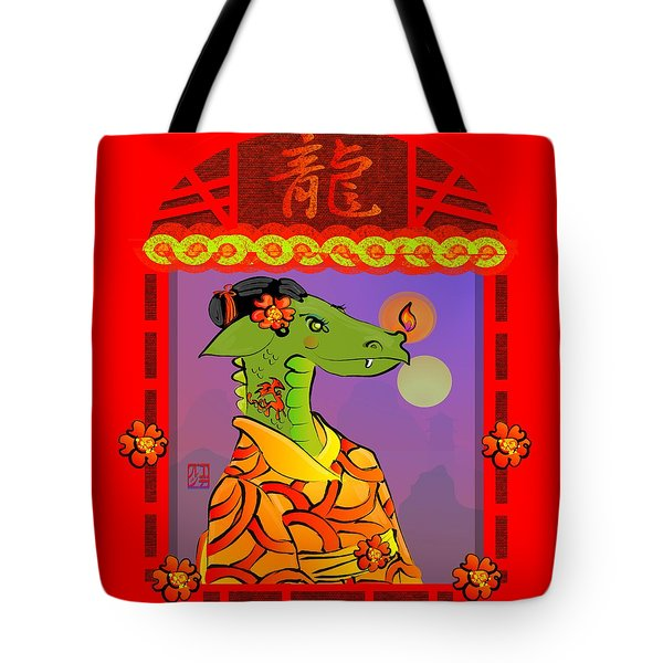 Year Of The Dragon Tote Bag by LD Gonzalez