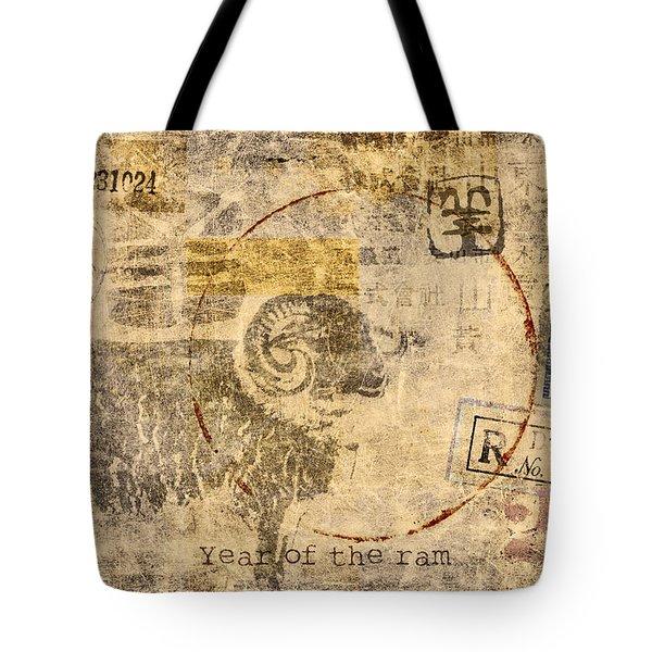 Year Of The Ram Postcard Tote Bag