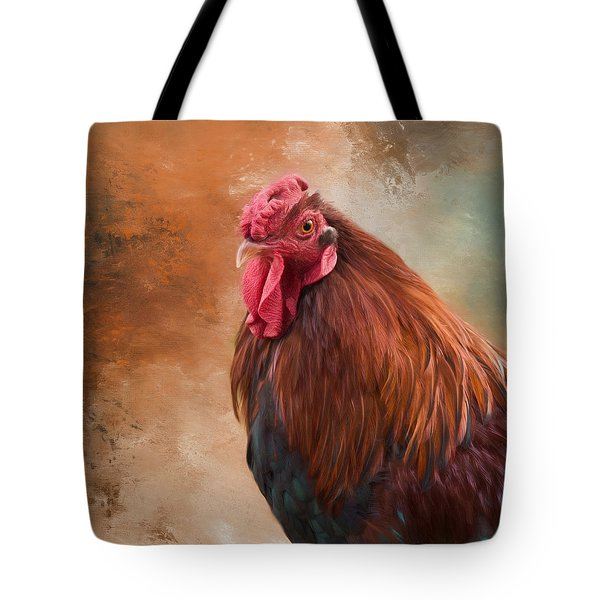 Tote Bag featuring the photograph Year Of The Rooster 2017 by Robin-Lee Vieira