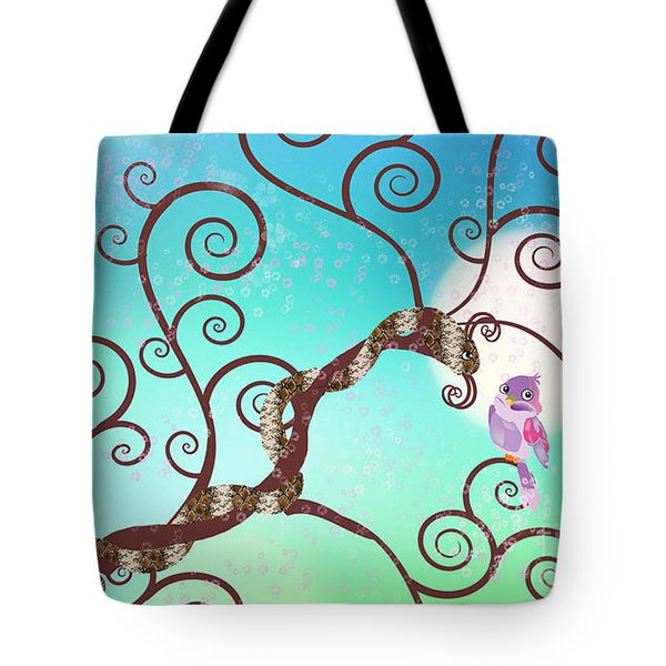 Year Of The Snake Tote Bag by Kim Prowse