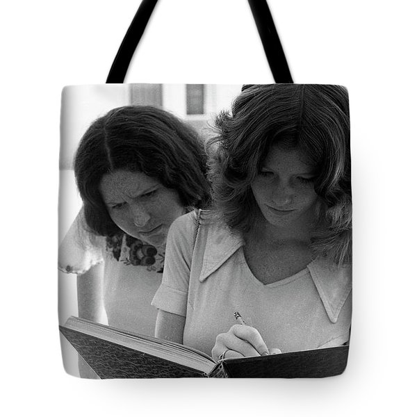 Yearbook Signing, 1972, Part 1 Tote Bag