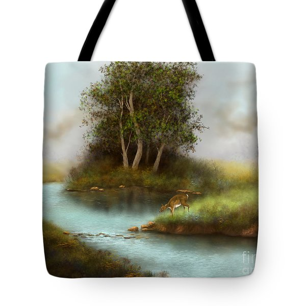 Tote Bag featuring the painting Yearling by Sena Wilson