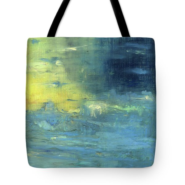 Tote Bag featuring the painting Yearning Tides by Michal Mitak Mahgerefteh