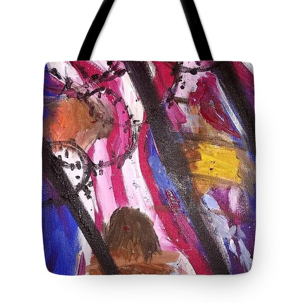 Tote Bag featuring the painting Yearning To Be Free by Kevin Daly