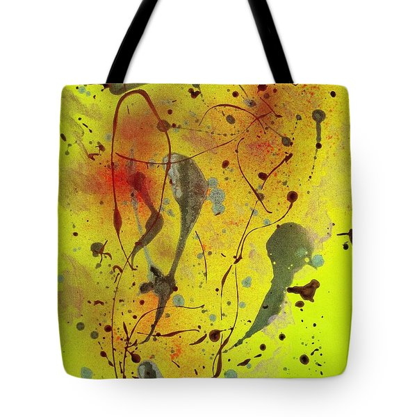 Yellow Abstract Tote Bag by Patrick Morgan