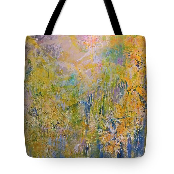 Yellow Abstract Tote Bag