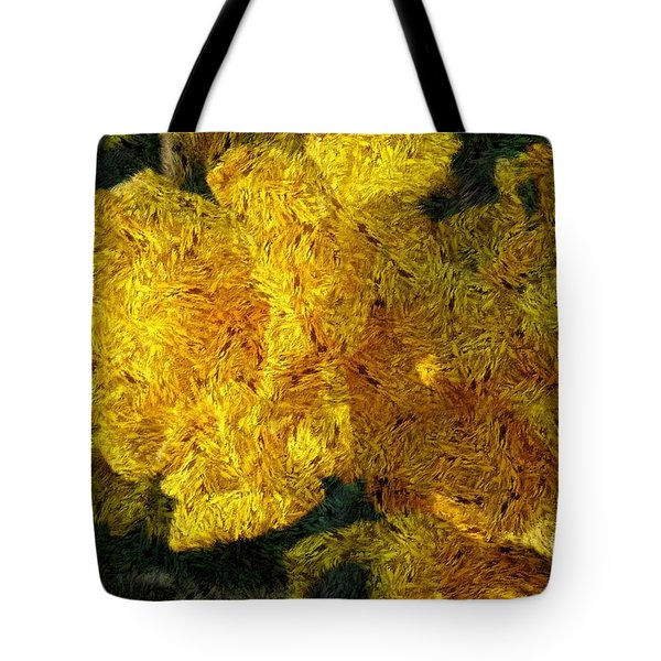 Yellow Abstraction Tote Bag by Jean Bernard Roussilhe