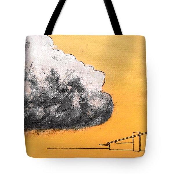 Yellow Alex Dark Cloud Tote Bag