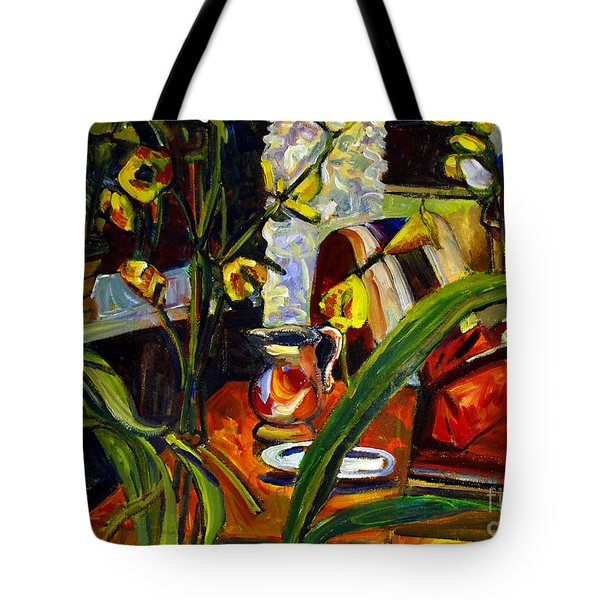 Tote Bag featuring the painting Yellow All Over by Charlie Spear