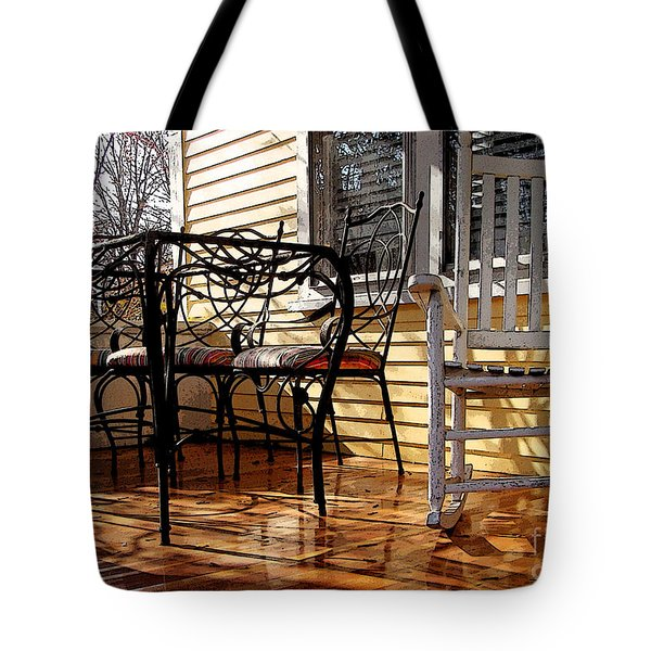 Yellow Ambiance Tote Bag by Betsy Zimmerli