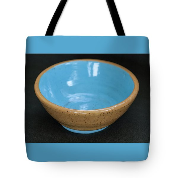 Yellow And Blue Ceramic Bowl Tote Bag by Suzanne Gaff