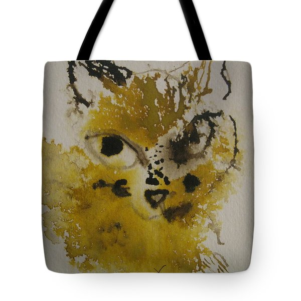 Yellow And Brown Cat Tote Bag
