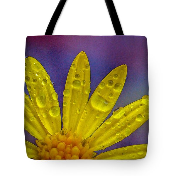Yellow And Dew Tote Bag