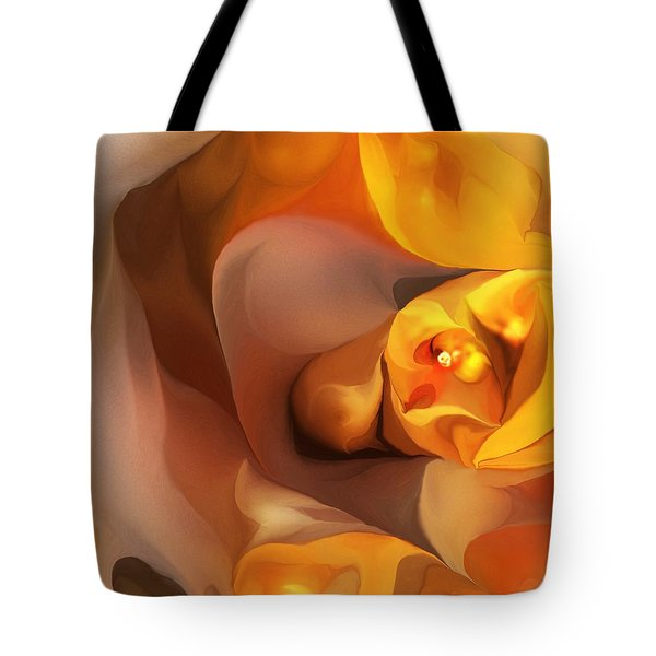Yellow And Gold Abstract 050712 Tote Bag