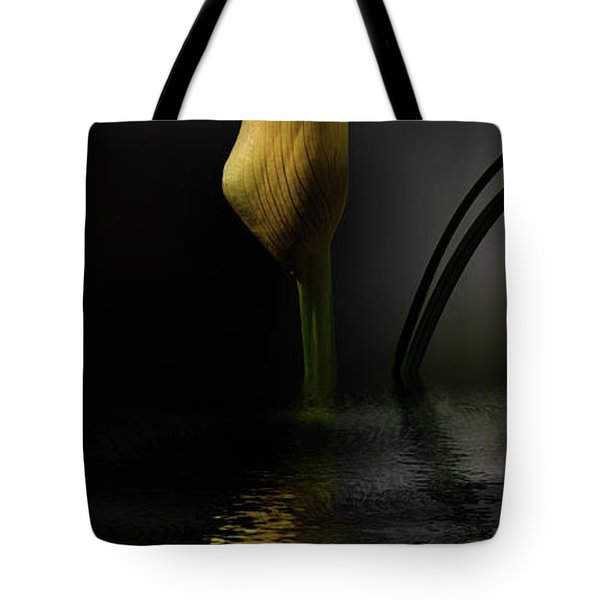 Yellow And Gray Tote Bag