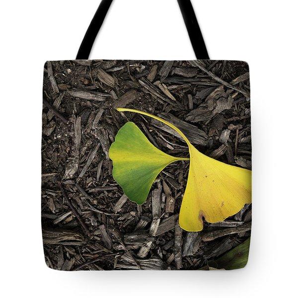 Yellow And Green Gingko Tote Bag