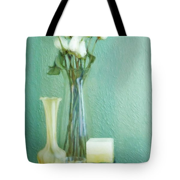 Yellow And Green Tote Bag