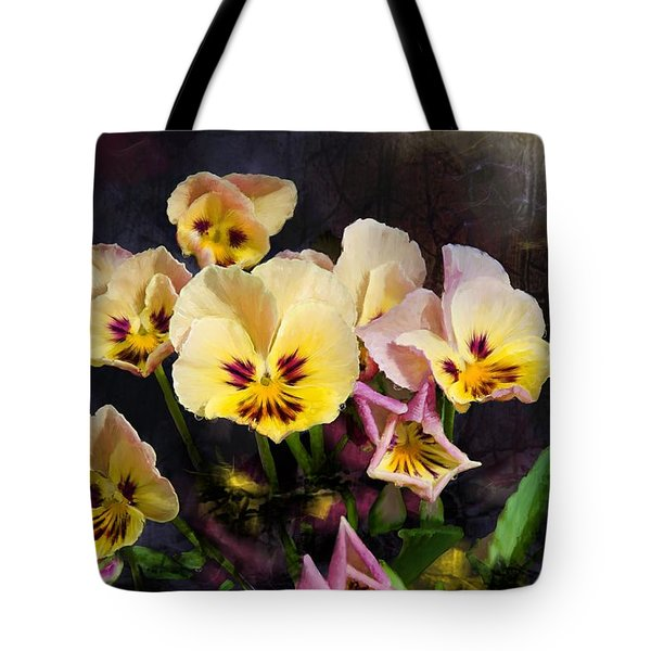 Yellow And Pink Pansies Tote Bag