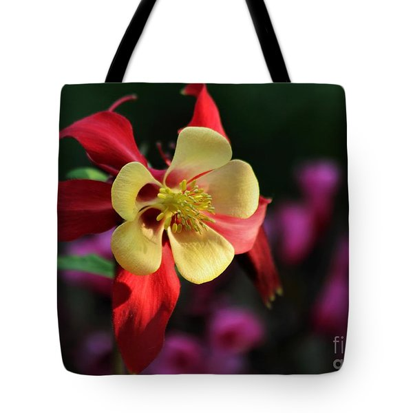 Tote Bag featuring the photograph Yellow And Red Columbine by Kenny Glotfelty