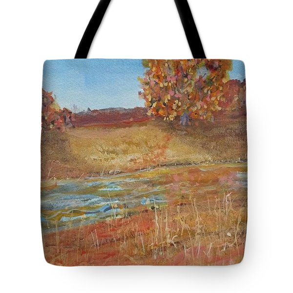 Yellow And Red Maples Tote Bag