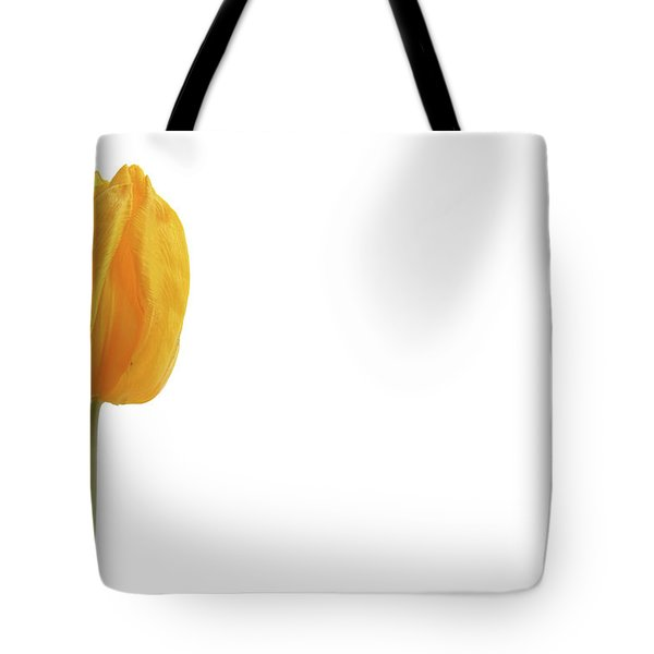 Tote Bag featuring the photograph Yellow And Tulip by Marie Leslie