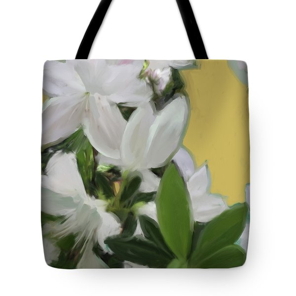 Yellow And White Flower Art 1  Tote Bag