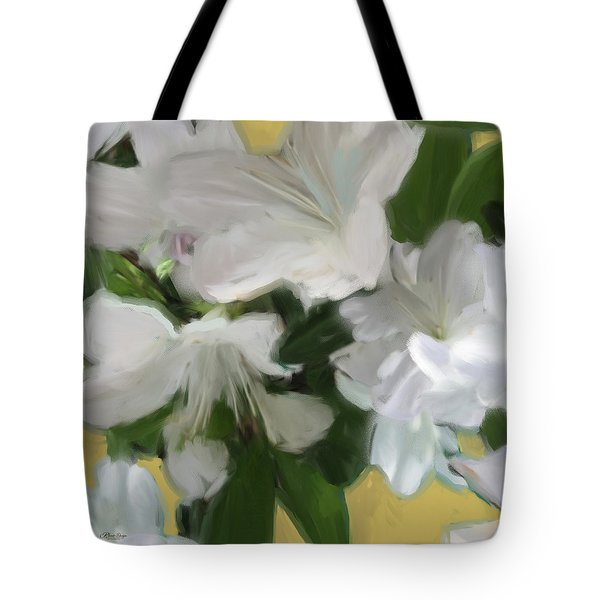 Yellow And White Flower Art 2 Tote Bag