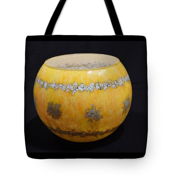 Yellow And White Vase Tote Bag