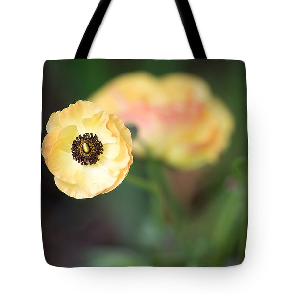 Yellow Anemone Center  Tote Bag