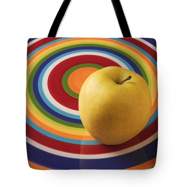 Yellow Apple  Tote Bag