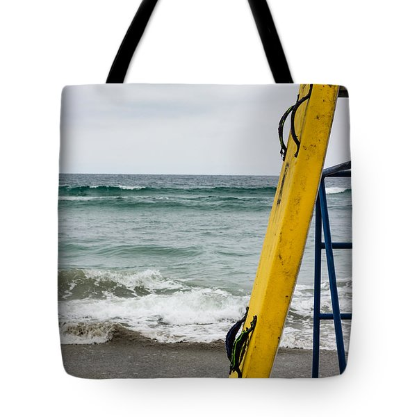Yellow Surfboard Tote Bag