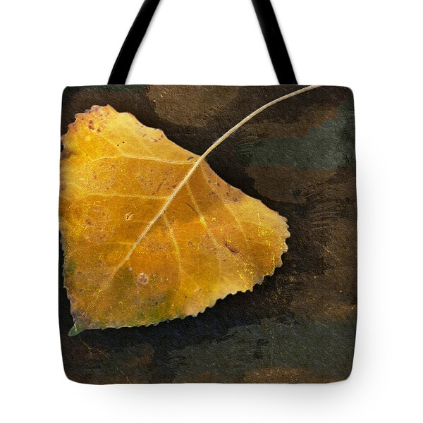 Yellow Autumn Leaf Tote Bag