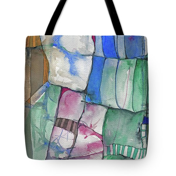 Yellow Awning Tote Bag by Sandra Church