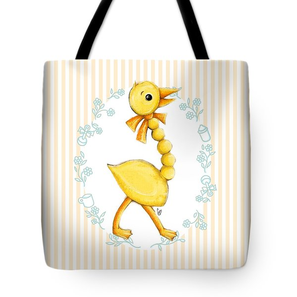 Yellow Baby Duck Tote Bag by Cindy Garber Iverson