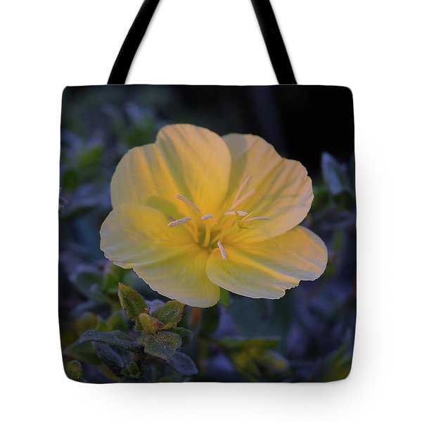 Tote Bag featuring the photograph Yellow Beach Evening Primrose by Marie Hicks