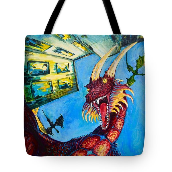Yellow Bearded Dragon Tote Bag