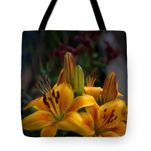 Yellow Beauties Tote Bag by Cherie Duran
