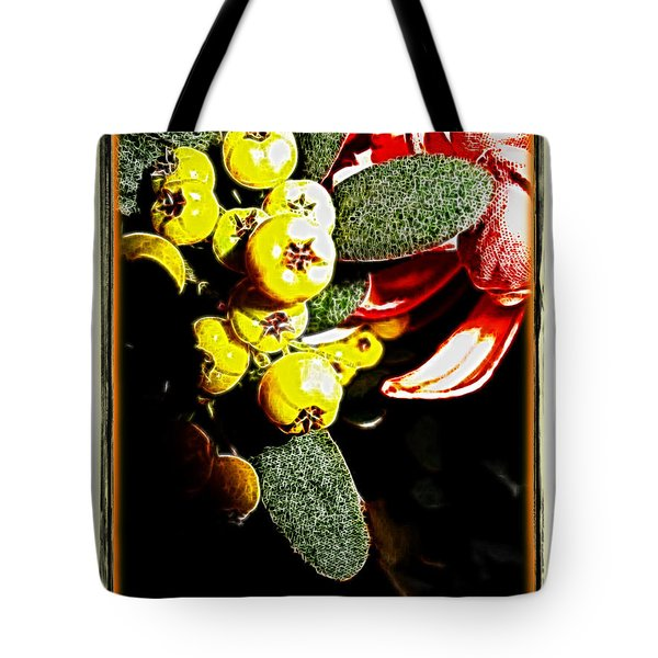 Tote Bag featuring the photograph Yellow Berries by Joan  Minchak